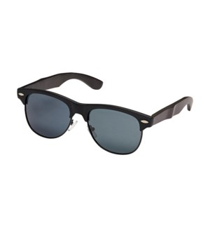 Julian Blackout- Matte Black / Black Bamboo / Smoke Polarized