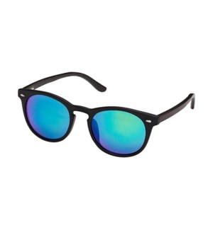 Arrow Blackout- Matte Black / Black Bamboo / Green Mirror Polarized