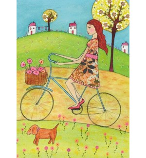 GIRL ON BIKE BIRTHDAY