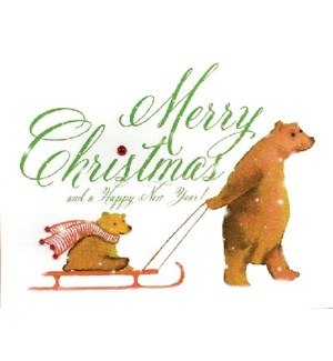 BEARS AND SLEIGH HOLIDAY