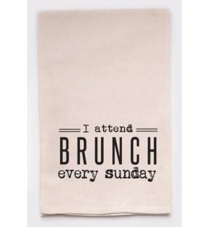 I attend brunch every Sunday