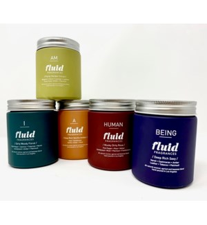 OPENING BUNDLE: 4 EA OF ALL 5 FRAGRANCES FLUID FRAGRANCES JAR CANDLES
