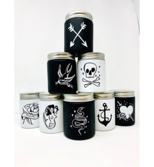OPENING BUNDLE: 4 EA OF ALL 8 FLUID INK (TATTOO) CANDLES