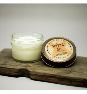 Motor Oil 4 oz Soy Candle