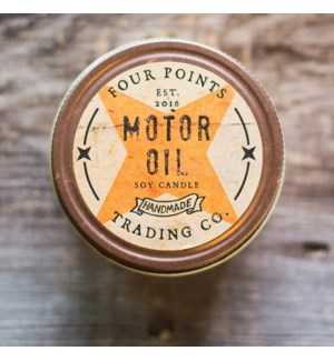 Motor Oil 8 oz Soy Candle