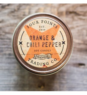 Orange and Chili Pepper 8 oz Soy Candle