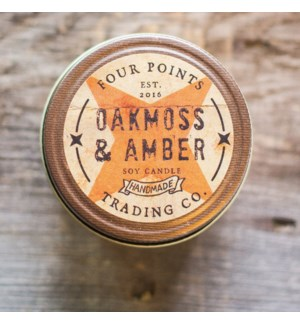 Oak Moss and Amber 8 oz Soy Candle