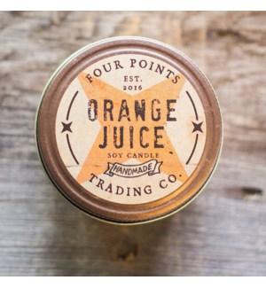 Orange Juice 8 oz Soy Candle