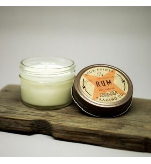 Rum 4 oz Soy Candle