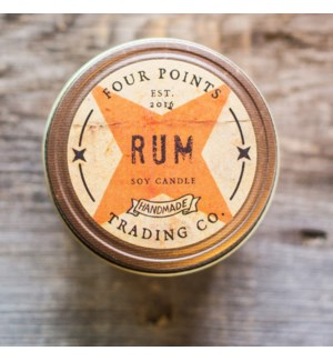 Rum 8 oz Soy Candle