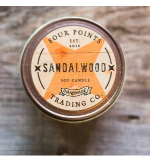 Sandlewood 8 oz Soy Candle
