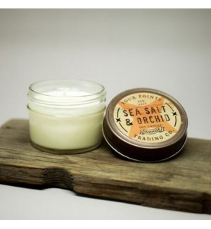 Sea Salt and Orchid 4 oz Soy Candle
