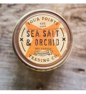 Sea Salt and Orchid 8 oz Soy Candle