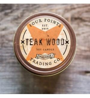 Teak Wood 4 oz Soy Candle