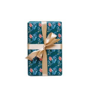 Rosemaling Wrapping Paper - Norse Green