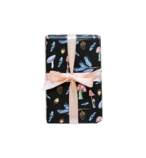 Pine + Mushroom Woodland Wrapping Paper