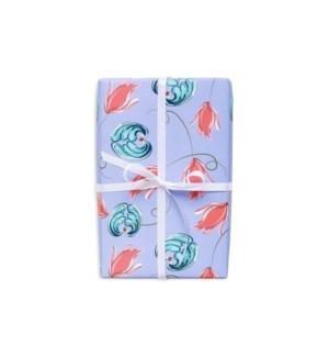 Purple Rosemaling Gift Wrap