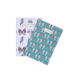 Beetles & Butterflies Notebook Duo