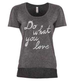 Do What You Love Charcoal Festival T XL
