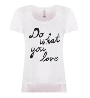 Do What You Love White Festival T XL