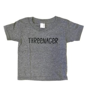 Threenager Heather Gray Toddler T 3T