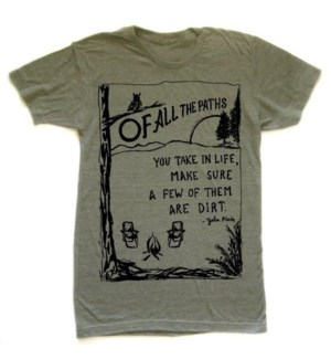 Paths Military Green T-shirt Unisex  S