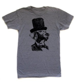 Lincoln Dog Grey T-shirt Unisex  S