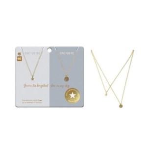 Share & Pair Necklace - Star & Night Sky