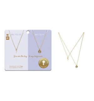 Share & Pair Necklace - Key & Lock