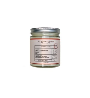 Sweet Clementine Candle - 8 oz Jar