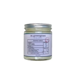Crisp Linen Candle - 8 oz Jar