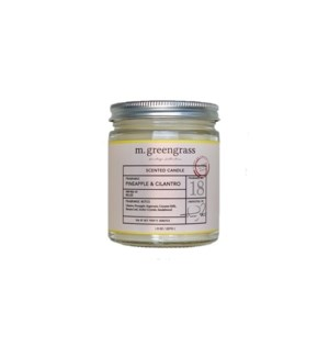 Pineapple + Cilantro Blossom Candle - 8 oz Jar