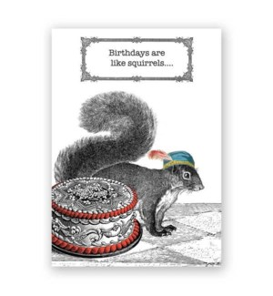 Squirrel Birthday Card