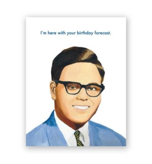Weatherman Birthday Card