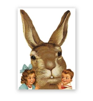 Giant Rabbit Easter Card