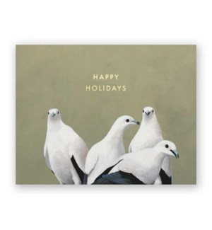 Fruit Doves Holiday Card