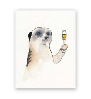 Meerkat Cheers Card