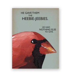 Heebie-Jeebies Note Card