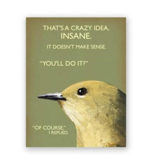Crazy Idea Note Card