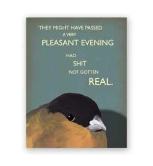 Passed a Pleasant Evening Card