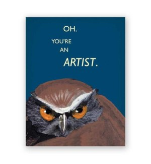 You're an Artist Card