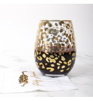 Stmls Wine Glass-Gold Leopard_(ship 1/15/2020)