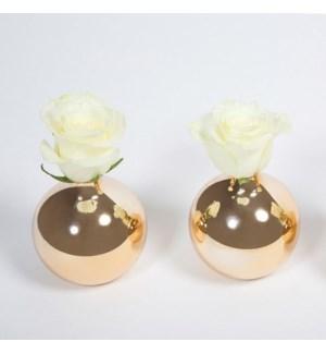 Round Vase- Gold