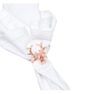 Napkin Ring-Rose Gold Stag