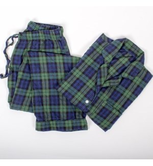 PJ Set Black Watch Plaid LG/XL