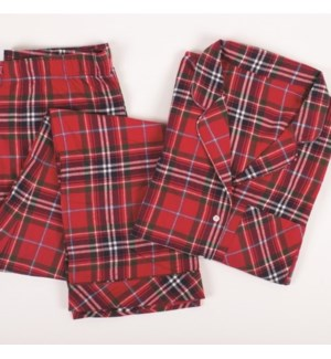 PJ Set Red Tartan Plaid LG/XL