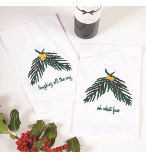 2Pc Bar Towel -Evergreen