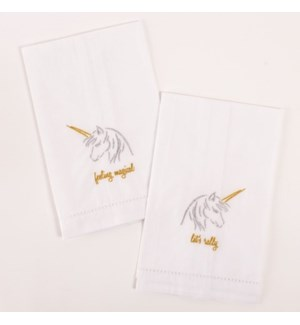 2Pc Bar Towel -Unicorns