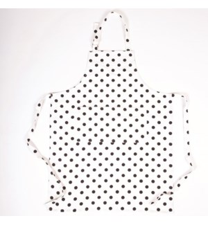 Adult Apron Black Polka Dot