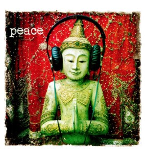 Peace buddha headphones